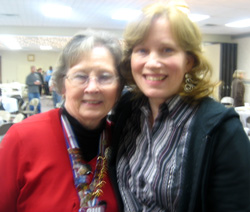 "Brenda Huff with ""Mama Ruth"" Kelly"