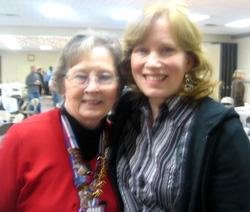 "Brenda Huff with ""Mama Ruth"" Kelly"